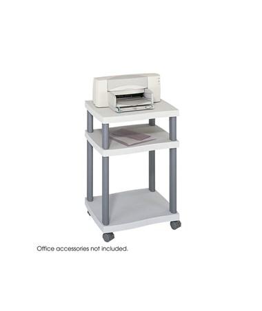 SAFCO1860GR-Wave Desk Side Printer Stand Gray SAF1860GR