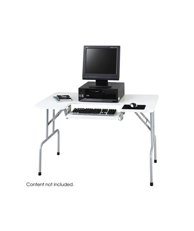 "Folding Computer Table 47 1/2"" w x 28 3/4 ""h x 293/4"" d 1935GR"
