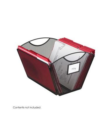 SAFCO2162BL-Onyx™ Mesh Desktop Tub File, Letter Size (Qty. 6) Black SAF2162BL