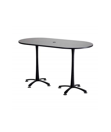 "Safco Cha-Cha Bistro-Height Racetrack Conference Table 72""W x 36""D Asian Night/Black Base 2550ANBL"