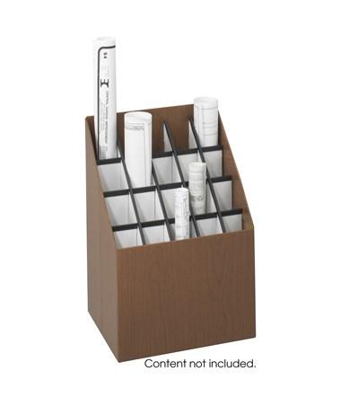 Safco Upright Fiberboard Roll File, 20 Compartments SAF3081