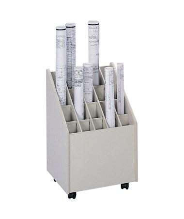 Safco Mobile 20-Compartment Roll File SAF3082