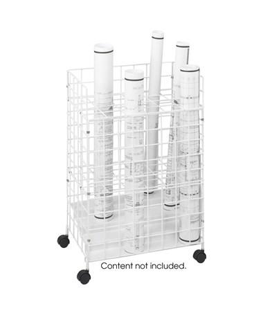 Safco Steel Wire Roll File, 24 Compartments SAF3088