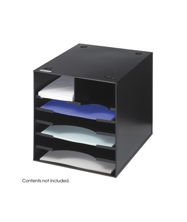 SAFCO Steel Desktop Organizer, 7 Compartment Black SAF3111BL
