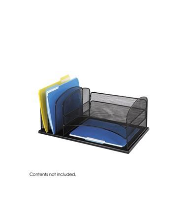 SAFCO Onyx™ 3 Horizontal/3 Upright Sections Black SAF3254BL