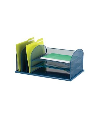 Safco Onyx 3 Horizontal/3 Upright Organizer,Blue 3254BU