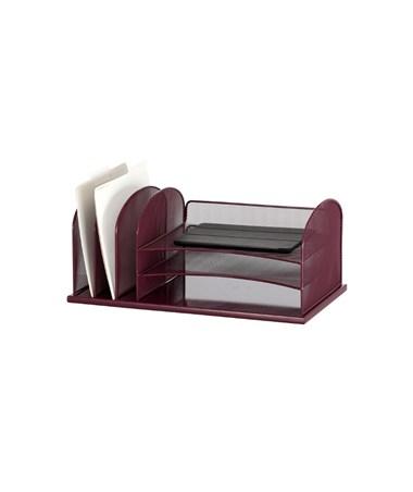 Safco Onyx 3 Horizontal/3 Upright Organizer, Wine 3254WE