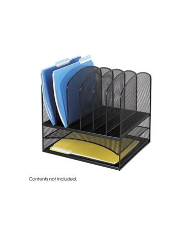 SAFCO Onyx™ 2 Horizontal/6 Upright Sections Black SAF3255BL
