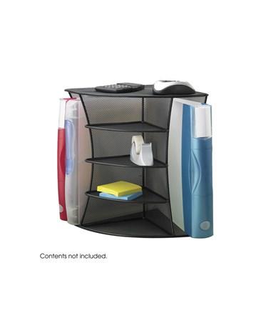 SAFCO Onyx™ Mesh Desk Corner Organizer Black SAF3261BL