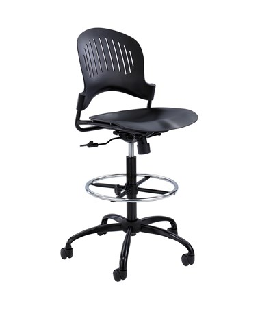 Safco Zippi Plastic Drafting Chair 3386BL