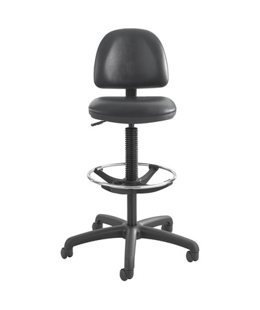 Safco Precision Vinyl Drafting Chair with Footring SAF3406BL