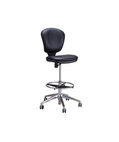 Safco Metro Extended Height Chair, Black Vinyl 3442BV