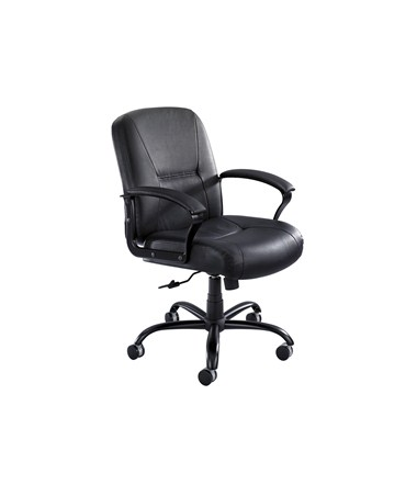 Safco Serenity Midback Leather Executive Office Chair 3501BL