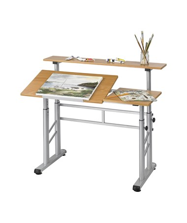Safco Adjustable Height Split Top Drawing Table 3965MO