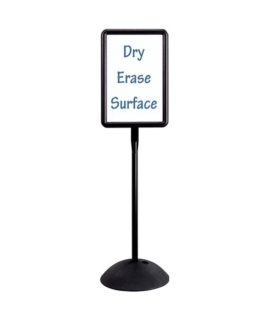 SAFCO4117BL-Write Way® Rectangle Message Board Black SAF4117BL