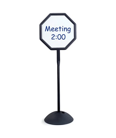 SAFCO4118BL-Write Way® Octagon Message Board Black SAF4118BL