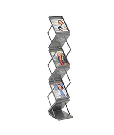 SAFCO4132GR-Ready-Set-Go! Double Sided Folding Literature Display Gray SAF4132GR