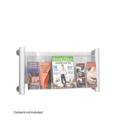 SAFCO4133SL-Luxe™ Magazine Rack - 3 pocket Sliver SAF4133SL
