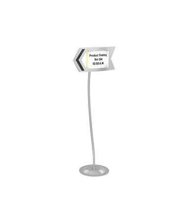 SAFCO4169GR-Customizable Arrow Sign Gray SAF4169GR