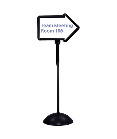 SAFCO4173BL-Write Way® Directional Sign Black SAF4173BL