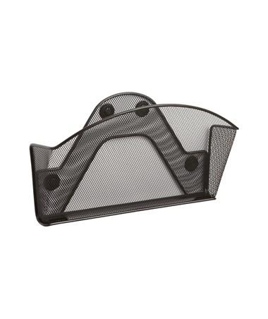 Safco Onyx Magnetic Mesh Single Black File Pocket (Qty.6) SAF4176BL