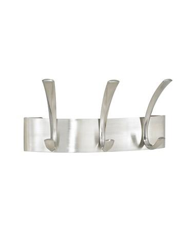 SAFCO4204SL-Metal Coat Rack 3 Hook (Qty 6) Sliver SAF4204SL