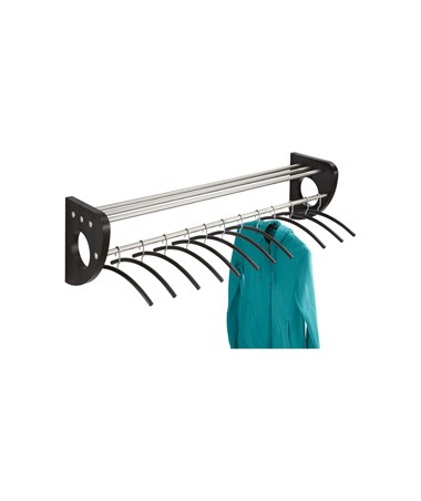 """SAFCO4213-Mode™ 48"""" Wood Wall Coat Rack With Hangers SAF4213"""