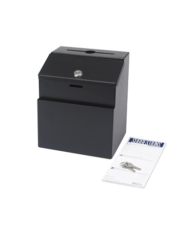 Safco Black Steel Suggestion Box 4232BL