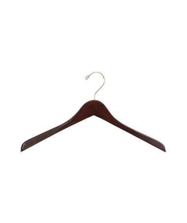 SAFCO4250WL-Deluxe Contoured Coat Hangers (6 Cartons of 8 Each) Walnut SAF4250WL
