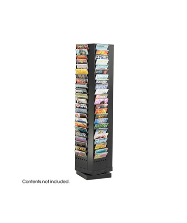 SAFCO4325-92-Pocket Steel Rotary Magazine Rack SAF4325