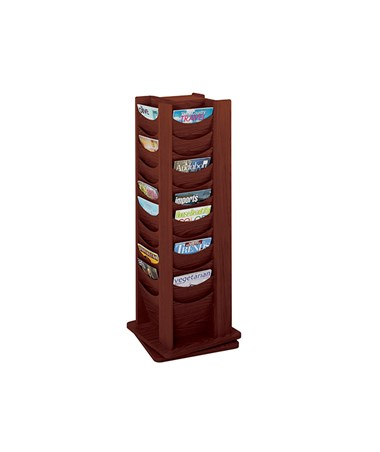 SAFCO4335-48-Pocket Solid Wood Rotating Display SAF4335