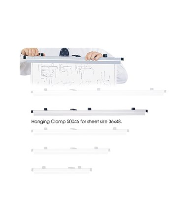 """Safco 36"""" Hanging Clamps for 36"""" x 48"""" Sheets SAF50046"""