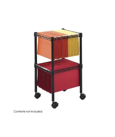 Safco Two-Tier Compact File Cart 5221BL SAF5221BL