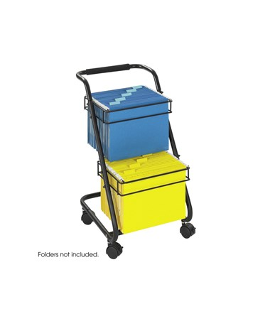 Safco Jazz™ Two-Tier File Cart SAF5223BL
