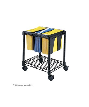 Safco Wire File Cart with Tubs SAF5228BL