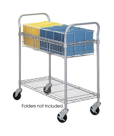 Safco Wire Mail Cart, 36-inch Wide SAF5236GR