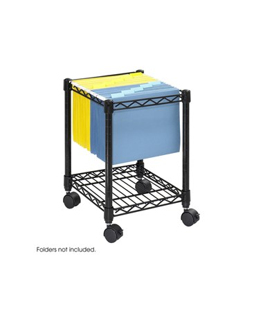 Safco Compact Mobile File Cart SAF5277BL