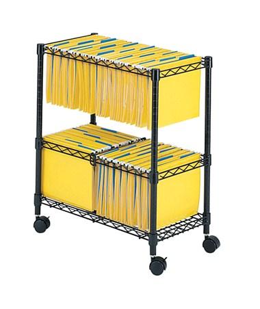 Safco 2-Tier Rolling File Cart SAF5278BL