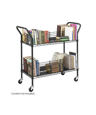 SAFCO5333BL-Wire Book Cart Black SAF5333BL