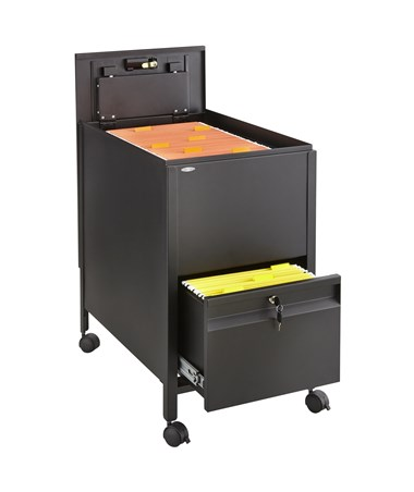SAFCO5364-Locking Mobile Tub File with Drawer, Letter Size SAF5364