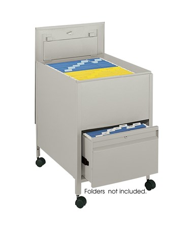 Safco Locking Mobile Tub File with Drawer, Legal Size Putty SAF5365PT