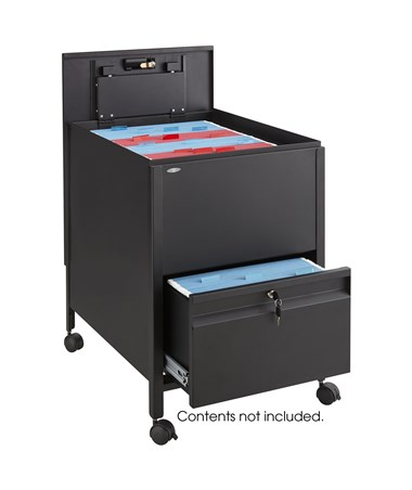 SAFCO5365-Locking Mobile Tub File with Drawer, Legal Size SAF5365