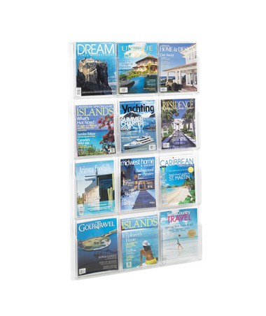 SAFCO5602CL-Reveal™ 12 Magazine Display Clear SAF5602CL