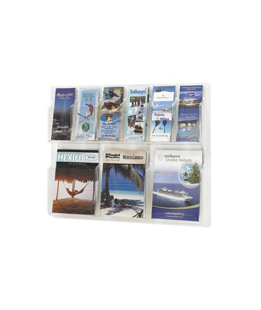 SAFCO5605CL-Reveal™ 3 Magazine and 6 Pamphlet Display Clear SAF5605CL