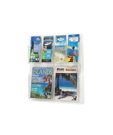 SAFCO5612CL-Reveal™ 2 Magazine and 4 Pamphlet Display Clear SAF5612CL