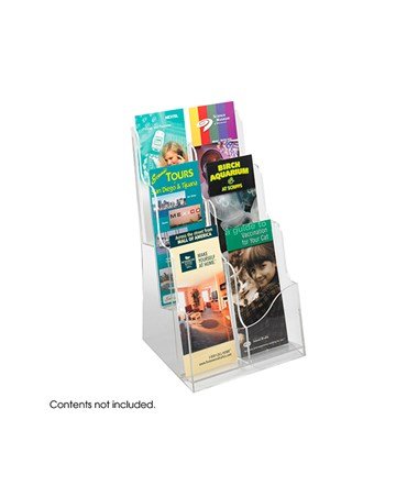 SAFCO5635CL-Acrylic 3 Pocket Magazine Display Clear SAF5635CL