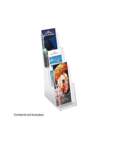 SAFCO5638CL_Acrylic 3 Pocket Pamphlet Display Clear SAF5638CL