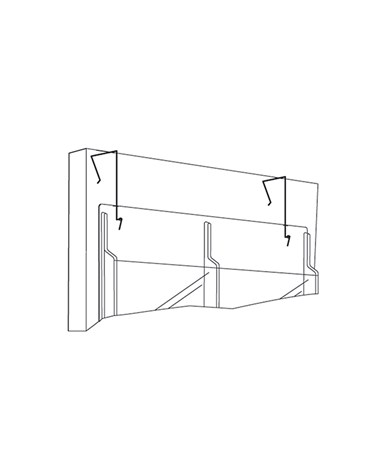 SAFCO5661NC-Display Wire Hanger Black SAF5661NC