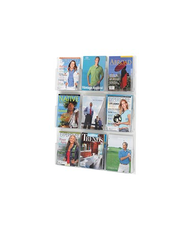 SAFCO5665CL-Clear2c™ 9 Magazine Display Clear SAF5665CL