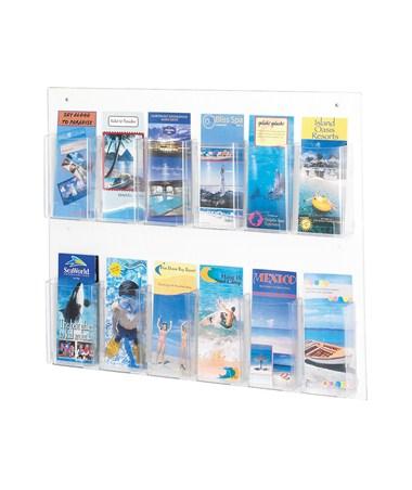 SAFCO5671CL-Clear2c™ 12 Pamphlet Display Clear SAF5671CL
